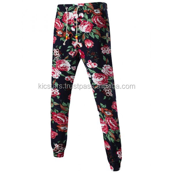 Mens Floral Sublimation Joggers Jogging Pants Running Sweatpants Custom Mens Patterned Joggers