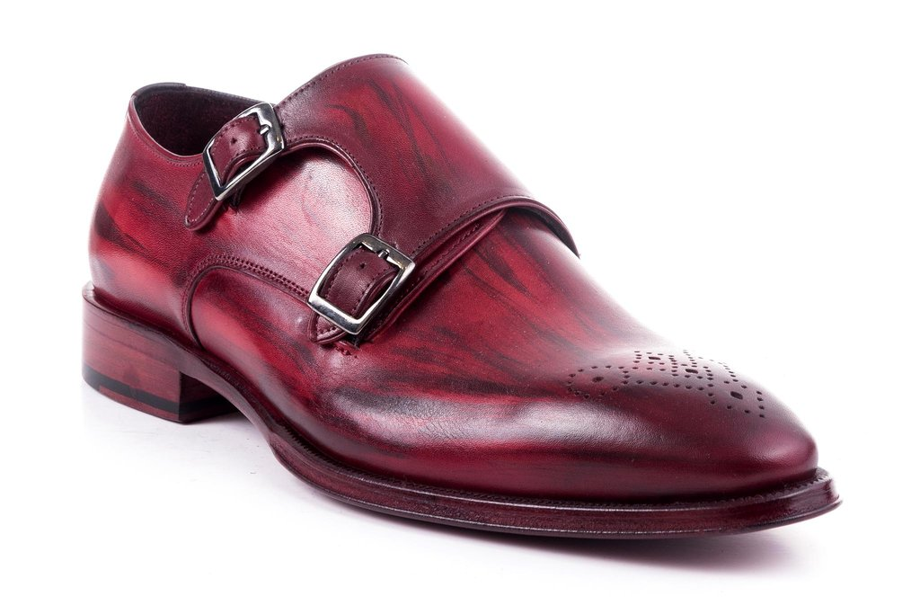 2019 Shoes Quality Men's Leather Turkey Handpainted Brand Man Monk High Dress Strap Shoes New xAgqa74O