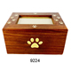 Wholesale customized shape wooden pet urns for ashes for sale