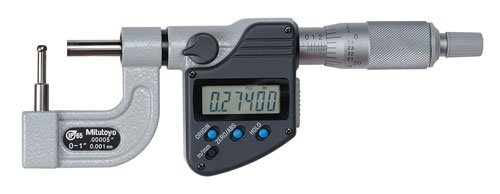 "Mitutoyo 395-363-30 BMB3-1""MX Tube Micrometer, IP65, Type C, 0""-1"", 0.00005""/0.001 mm"
