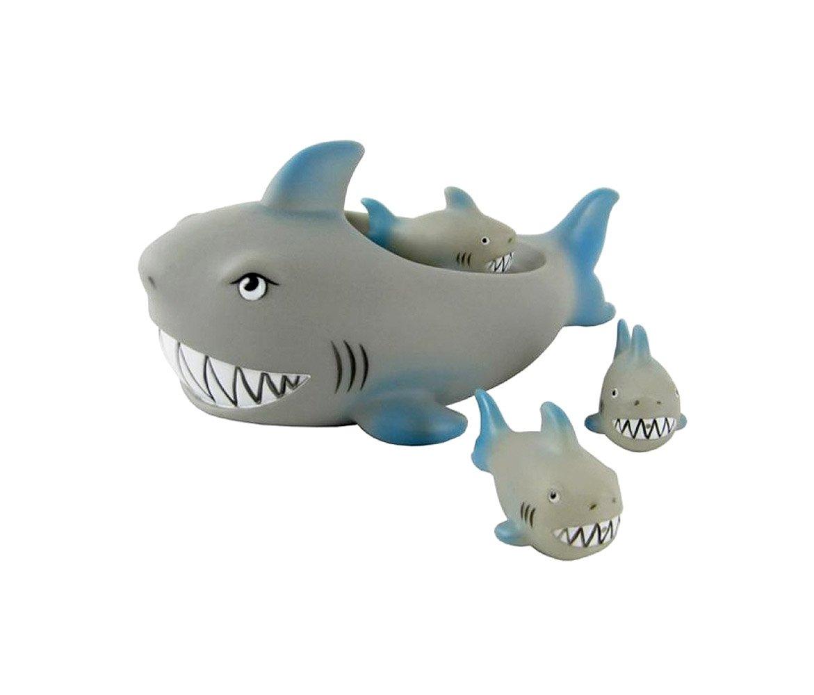 Gbell Interesting Child Bath Toys, Shrilling Rubber Cute Shark Family Bathtub Pals Floating Bath Tub Toy For Kids,Babies