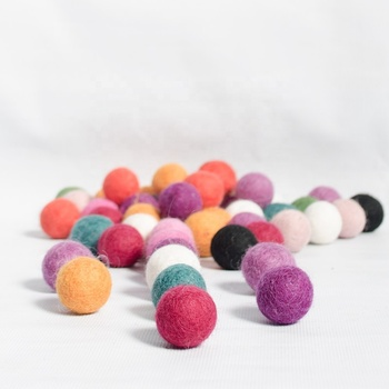 FB-001, Felt Balls, Eco-friendly New Zealand Wool, Hand Felted by skilled Nepalese Women Artisans using Techniques and Tradition