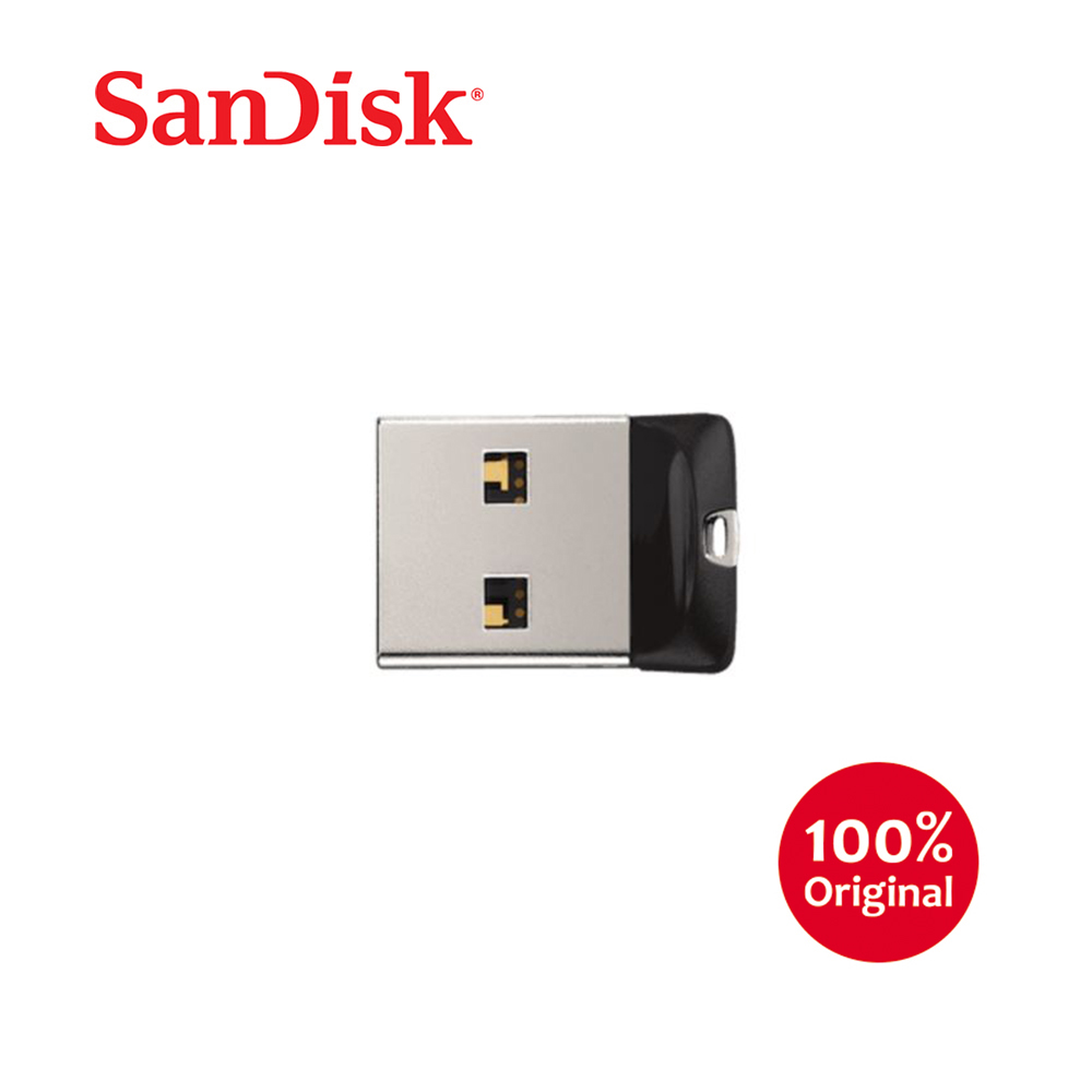 Original SanDisk 16GB USB Cruzer Fit 2.0 Flash Drive SDCZ33-016G-B35