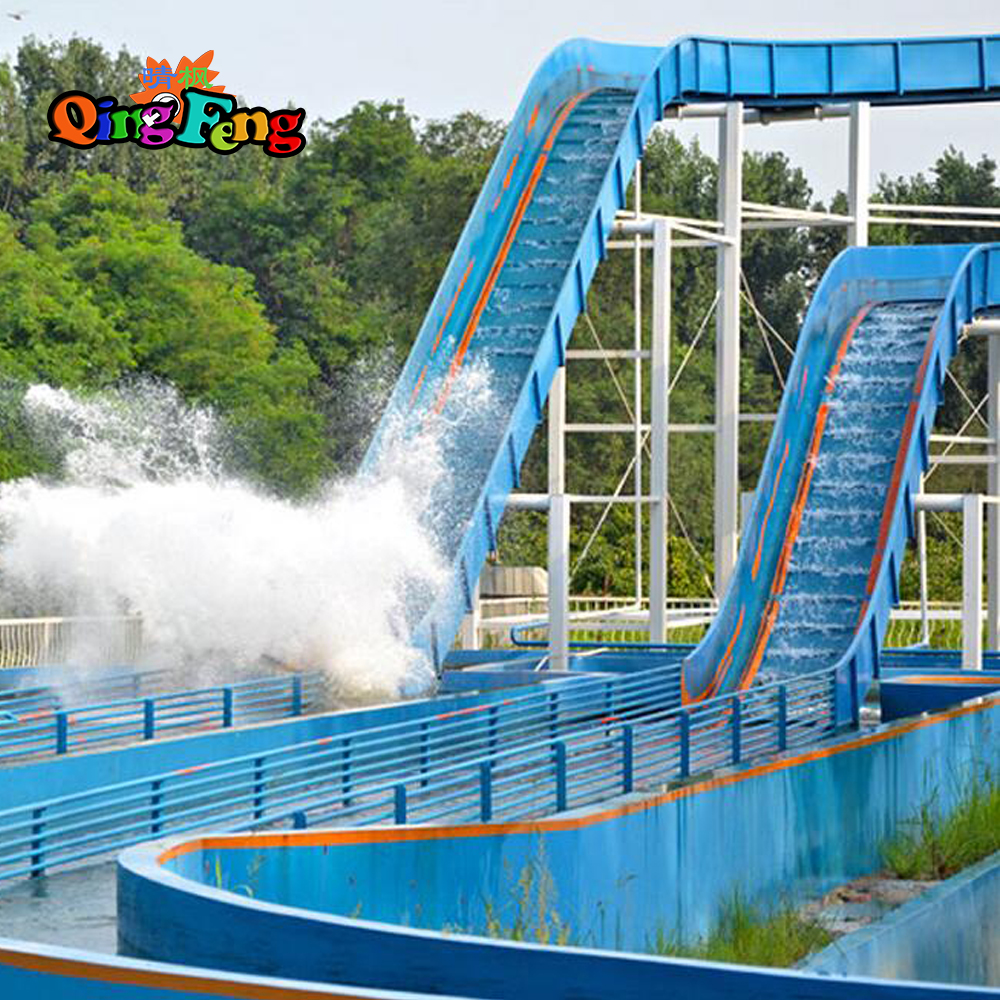 Qingfeng 2017 carton fair funny 20 players  water park Big rapids ride on ship water play equipment
