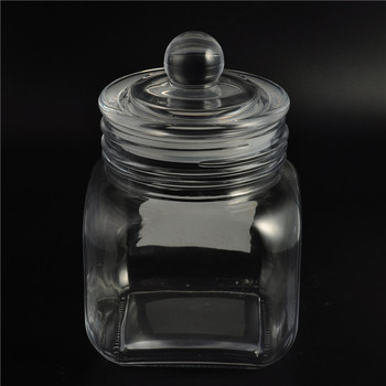 Eco friendly food storage glass jar seal pot candy container