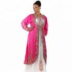 Beautiful Dubai kaftan formal dress royal pink wedding gown Islamic kaftan dress