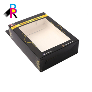 Full colored wholesale USB MP3 player packing paper box with transparent pvc window box