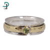 Hot Sale Peridot 925 Silver Brass Spinner Ring