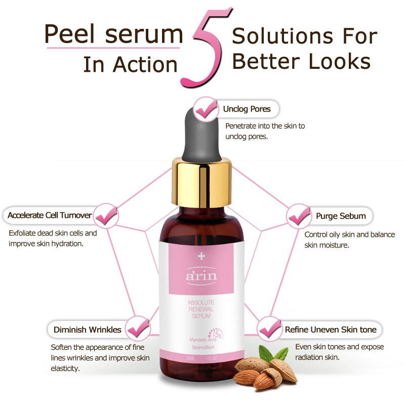15% Mandelic Säure Chemical Peel Gesicht Serum