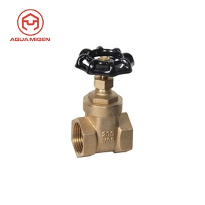 200 PSI(WOG) 125 PSI(WSP) Midwest Control Forged Brass Gate Valve (Female to Female) with Screwed Bonnet