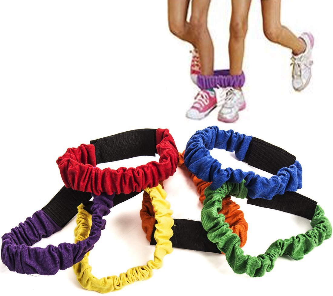 3 legged Race Bands - 6 Pack - Race Bands - Relay Race Games - Carnival Games - Birthday Games by Funny Party Hats