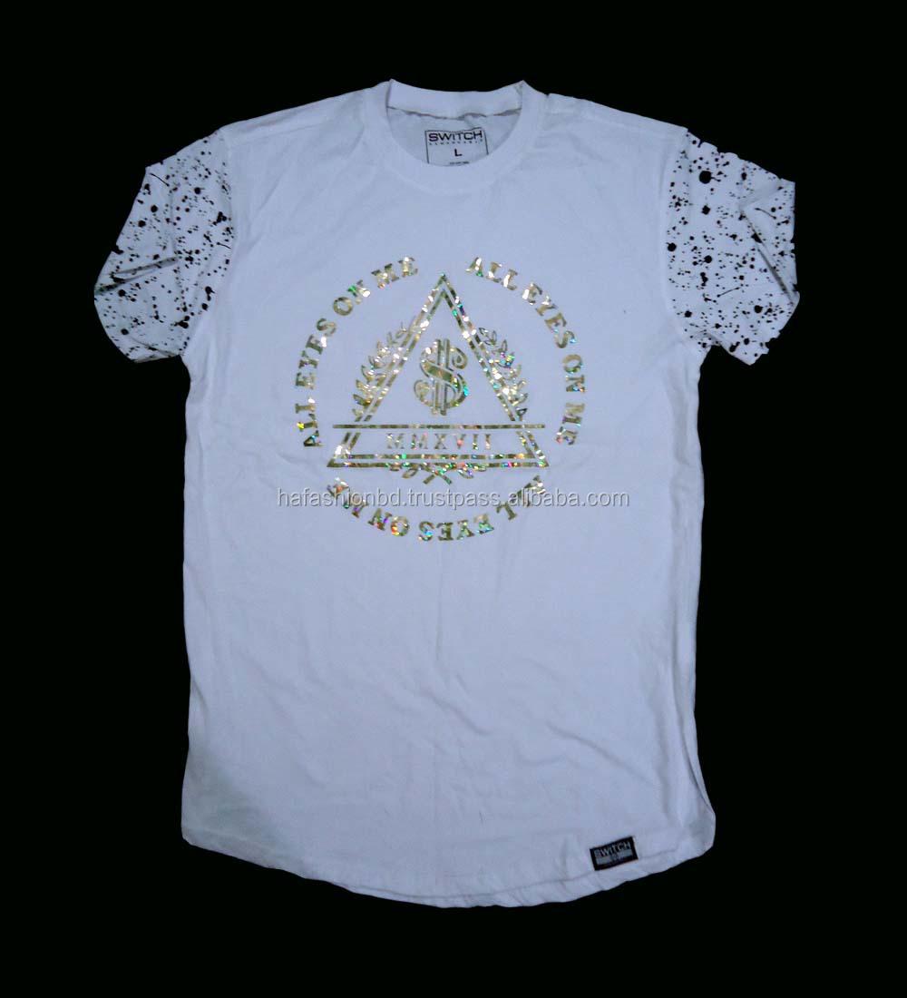 Printed Mens T Shirt Buy T Shirts With Gold Foil Printingmen T Shirt