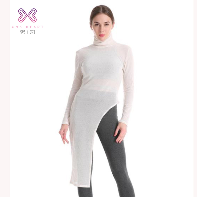 New arrival 2019 transparent mesh top white sexy long sleeve lady blouse & top wholesale clothing фото