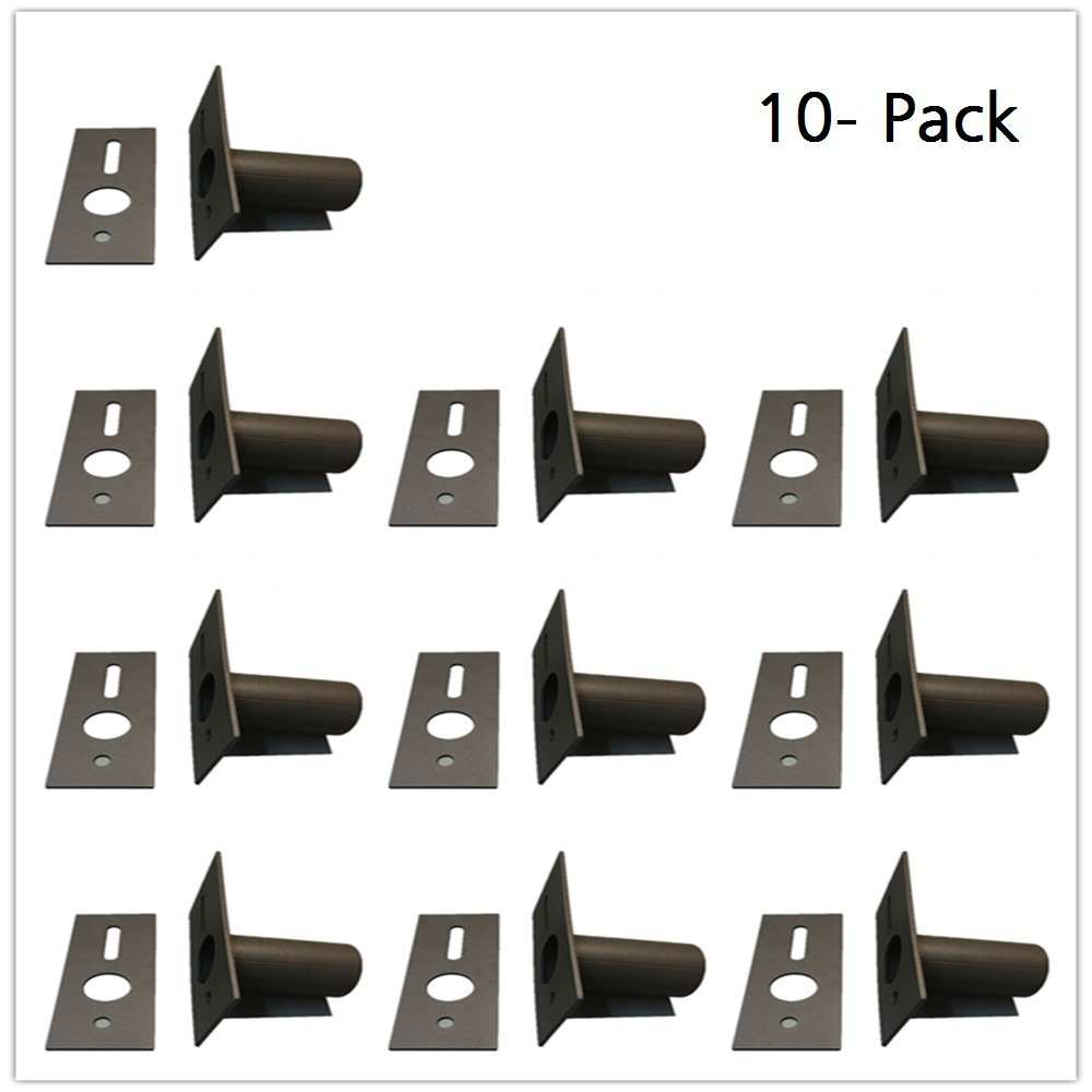 1000LED Slip Fitter Adaptor 10-Pack for Shoebox Lighting, Tenon Adapter for Parking Lot Light Fixture Mounting Brackets Adaptor, Transform The Slip Fitter into Arm Mounts for Pole