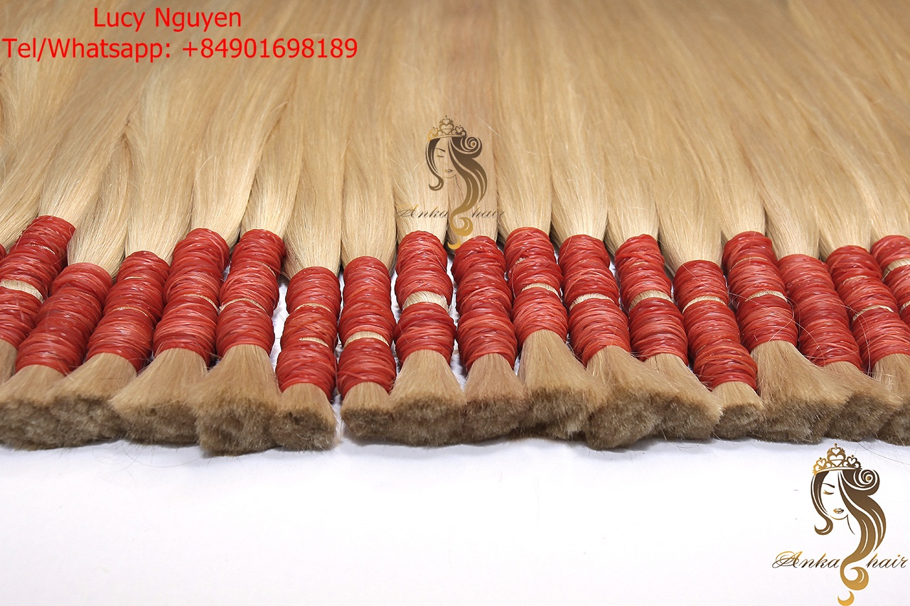 Top selling High Quality Blonde Hair #613 #60 Straight Same Russian Virgin Human Hair Extension Brazilian Virgin Hair