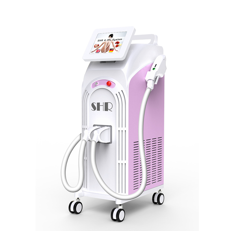 Womens legs and facial hair remover with shr laser hair removal and ipl handpiece
