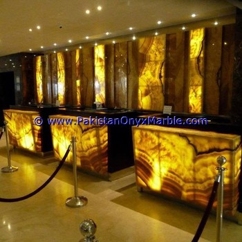 Translucent Back Lit Onyx Panel For Bar Counter Walls