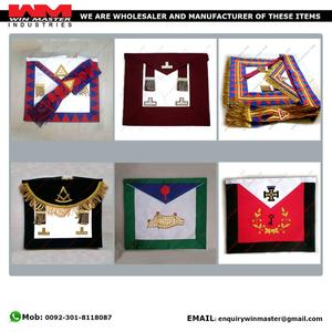 royal arch and French Rite Masonic Regalia Aprons