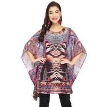Custom design digital print <span class=keywords><strong>zijde</strong></span> <span class=keywords><strong>kaftan</strong></span>
