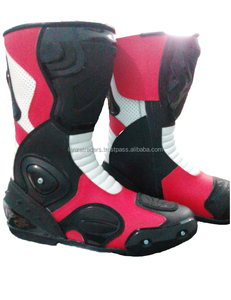Mens Leather Speed Motorbike Boots Racing Shoes