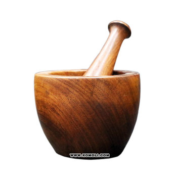 Kitchen Tool Custom Wood Mortar And Pestle Set