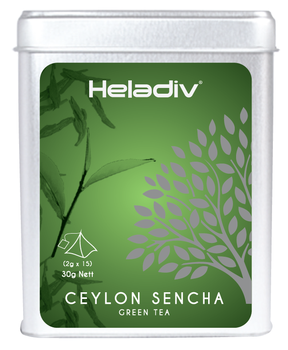 Heladiv Ceylon Sencha Flavoured Ceylon Green Tea 2g *15 Pyramid Tea Bags In  Tin Iso22000 - Buy Green Tea Product on Alibaba com