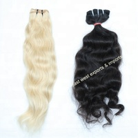 Free shipping wholesale Indian straight human hair weaving 3 bundles raw Indian double weft virgin hair