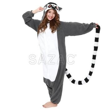 183ea14f193c Lemur животных onesie пижамы костюм динозавра взрослых Единорог кигуруми