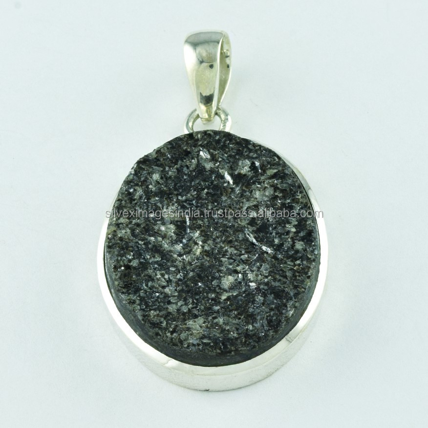 MIca Druzy Stone Fashion Trendy ,2017 Sterling Silver 925 Pendant Jewelry