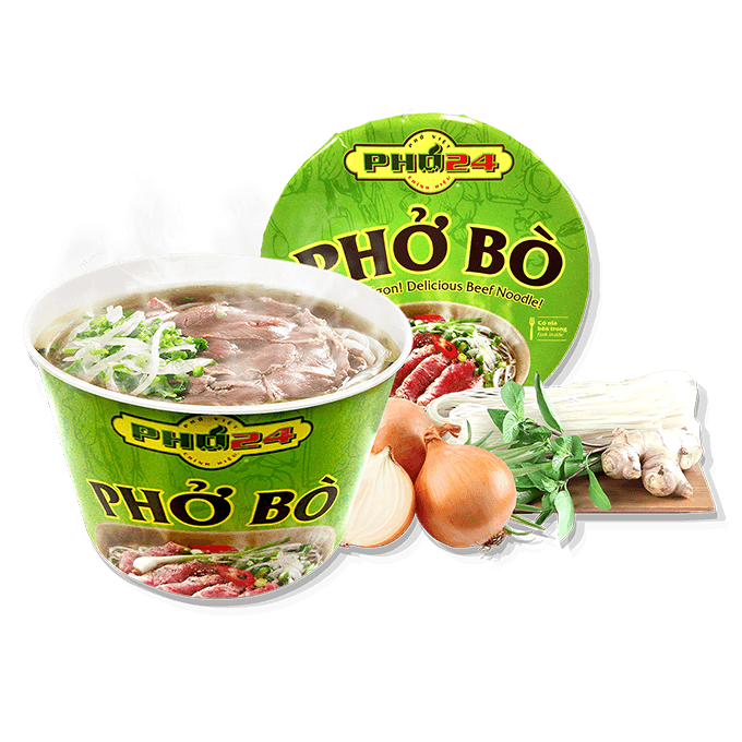 Delicious Instant Beef Noodles in Cup -  Instant PHO24