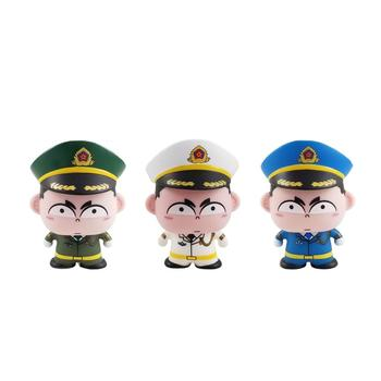 police cute small decoration mini figure  (1 set of 3 pieces)