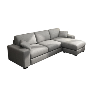 Modern linen fabric sectional sofa L-shape couch