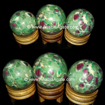 Ruby Fuchsite Gemstone Sphere