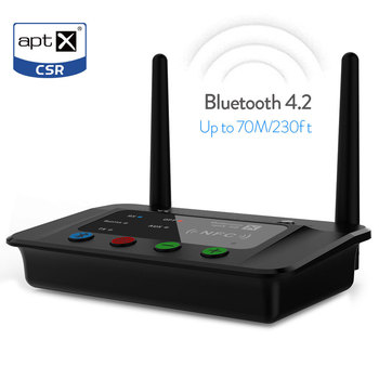 New release long distance bluetooth 4.2 transmitter Receiver by pass 3 in 1
