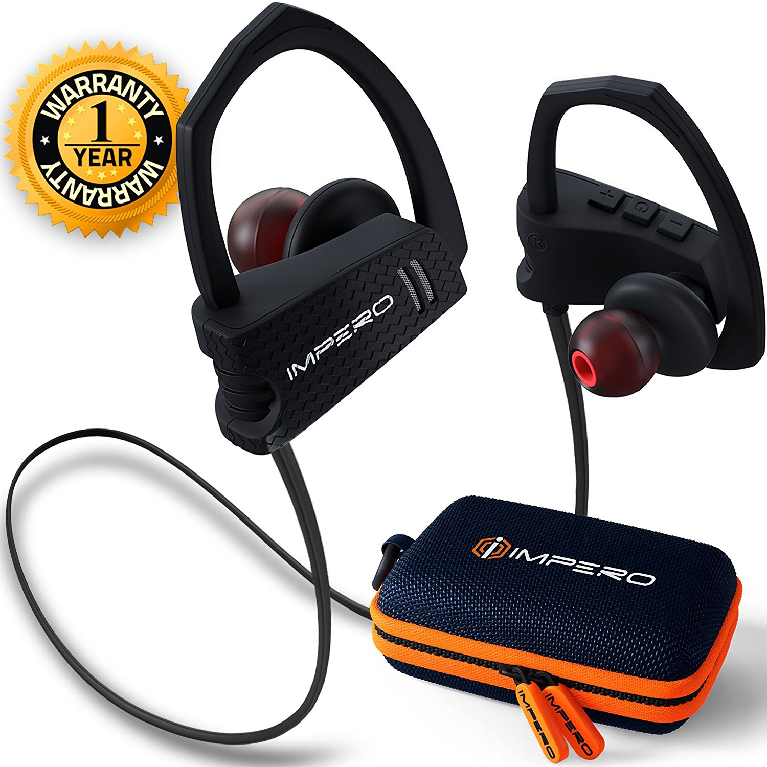 28fe33624d6 Get Quotations · Wireless headphones IMPERO Sport Bluetooth headphones with  microphone, Wireless earbuds Sport headphones Best Bluetooth earbuds