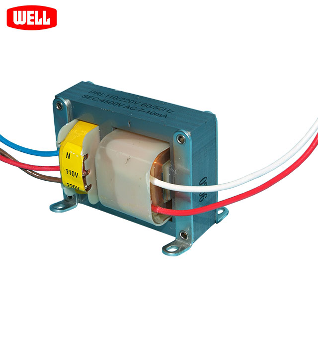 High voltage AC transformer low current