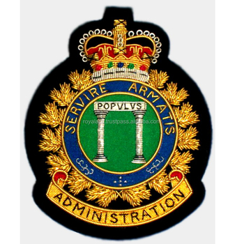Air Force Squadron Bullion Badge Canadian Squadron Crest Military Squadron  Emblem - Buy Custom Military Badge,Hand Embroidery Family Crest Blazer