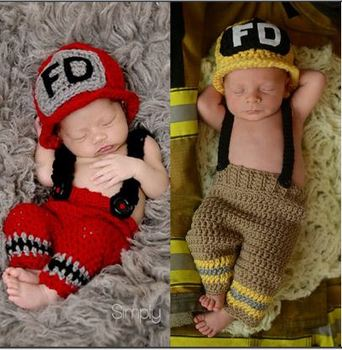 Firefighters Baby Photography Clothes