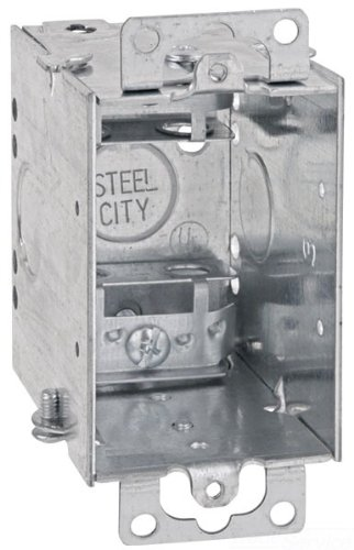 25-Pack Thomas /& Betts LXWOW-25 3-Inch Length by 2-Inch Width by 2-1//2-Inch Depth Galvanized 1 Gang Old Work Welded Construction Gangable Switch Box