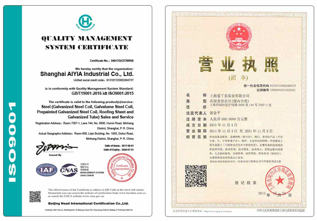 AIYIA экспортная цветная покрытая стальная катушка/ppgi/ppgl для металлического кровельного листа или корпуса прибора