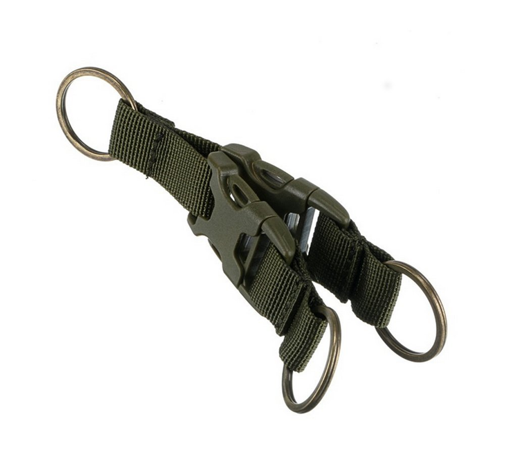 Good Quality Tactical Webbing Belt MOLLE Keychain Quick Release Buckle Key Ring