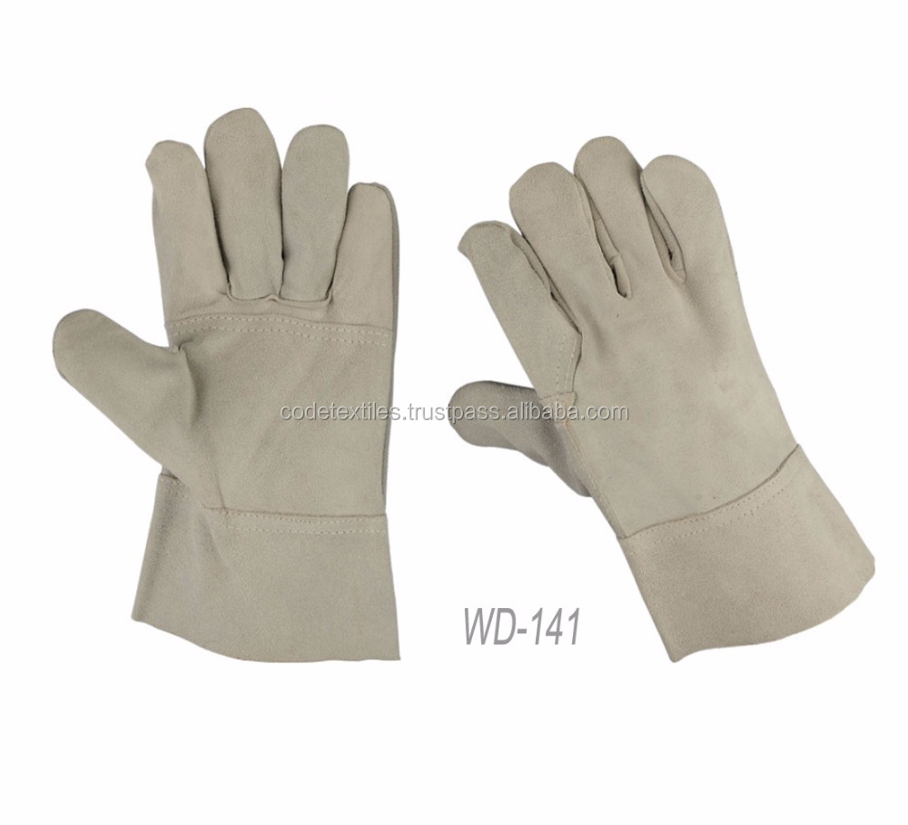 2017 High quality welder special natural leather welding gloves