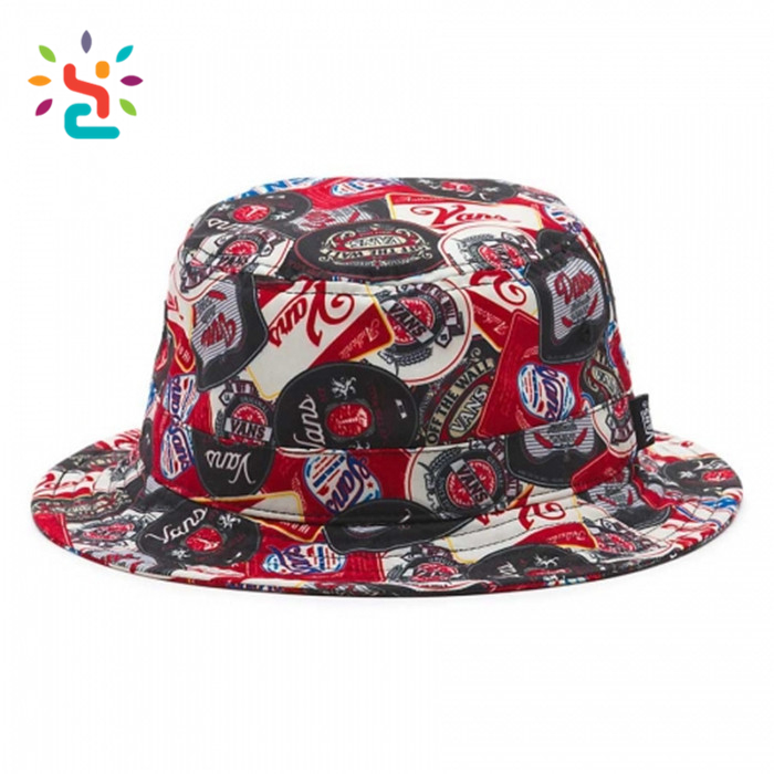 c33569266abd4 Vans Undertone Mens beer bucket hat Custom 100 cotton plain fishing sun  visor cap flat top