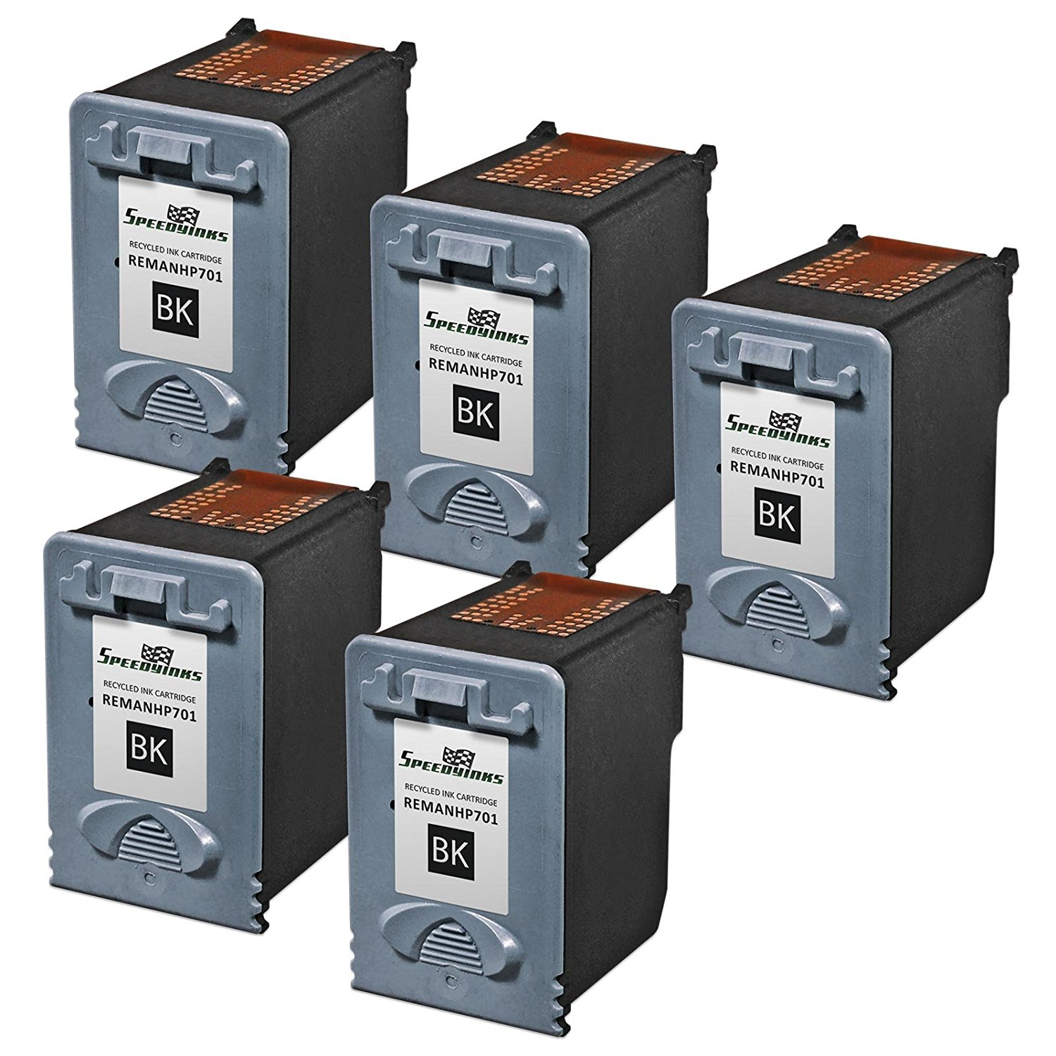Get Quotations · Speedy Inks - 5pk Remanufactured Replacement for HP CC635A  701 Black Ink Cartridge for use in