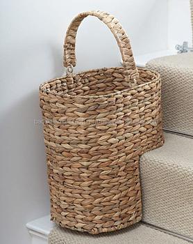 Water Hyacinth Stair Storage Basket