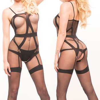 Fishnet Women Sexy Nude Sheer Nylon Bodystocking