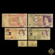 Full set of colorful UK gold banknotes British money pound
