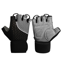 Microfiber Lady Workout Training Gloves Fitness Sports