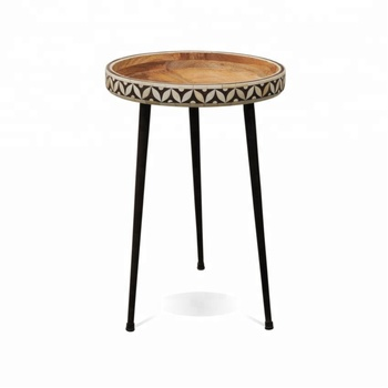 Indian Small Bone Inlaid Side Table Inlay Living Room Coffee Mother Of Pearl Product