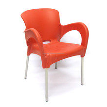 Stackable Dining Plastic Chair With Arm Cheap Modern Stacking Chair